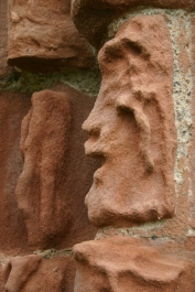 "A ""face"" in the Priory wall"